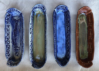 Long oval dishes for crackers or anything long and thin or small and stackable!